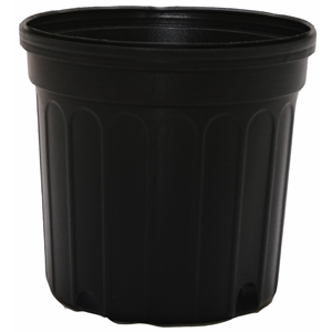 Outdoor Gardening Round Black Nursery Pot - 2 gallon