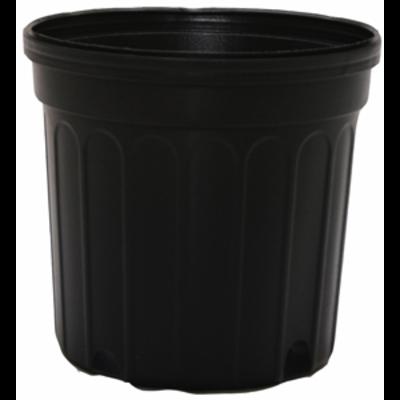 Outdoor Gardening Round Black Nursery Pot - 2 gallon