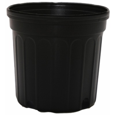 Outdoor Gardening Round Black Nursery Pot - 7 gallon