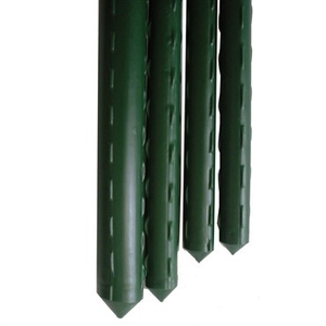 Outdoor Gardening Green VInyl Steel Stake - 8 ft