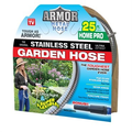 Outdoor Gardening Armor Stainless Steel Metal Hose - 25 ft