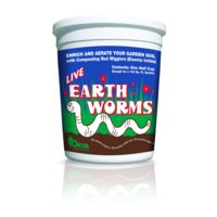 Outdoor Gardening Orcon Live Composting Earthworms - 1/2 cup