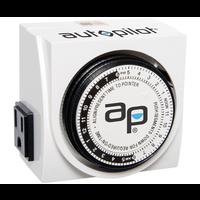Indoor Gardening Autopilot Dual-Outlet Analog Timer - 120 volt