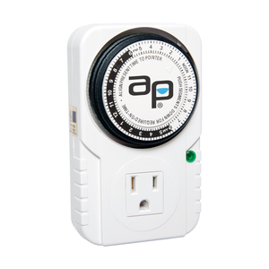 Indoor Gardening Autopilot Single Outlet Analog Timer - 120v