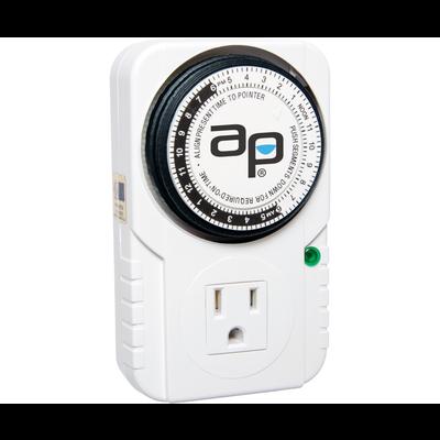 Indoor Gardening Autopilot Single Outlet Analog Timer - 120v