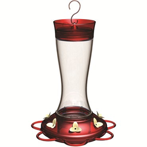 Classic Brands Classic Garnet Glass Hummingbird Feeder - 20 oz