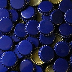 Beer and Wine Blue Oxygen Barrier Crown Caps - 144 count