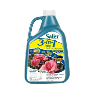 Pest and Disease Safer Organic 3-in-1 Garden Spray - 32 oz
