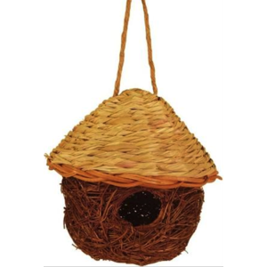 Home and Garden Jute & Seagrass Bird Nesting House