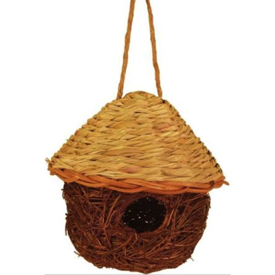 Home and Garden Jute & Seagrass Bird Nesting House