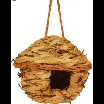Home and Garden Seagrass& Vine Bird Nesting House