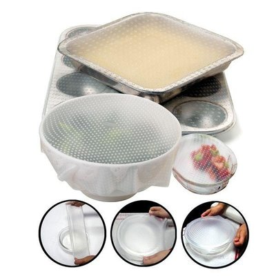 Home and Garden Reusable Silicone Bowl Covers - set/2