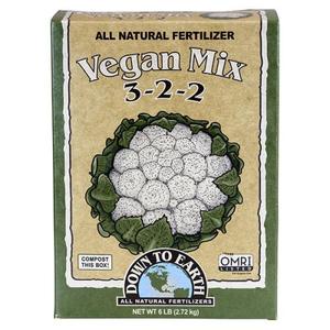Outdoor Gardening Down to Earth Organic Vegan Mix - 5 lb