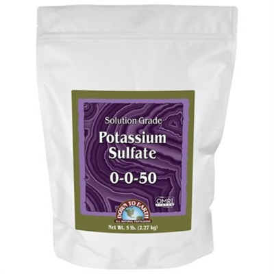 Outdoor Gardening Down to Earth Organic Potassium Sulfate - 5 lb