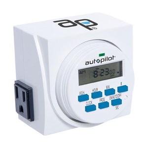 Indoor Gardening Autopilot Dual-Outlet Digital Timer - 120 volt