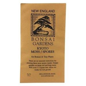 New England Bonsai Co Kyoto Moss Spores Packet - .5 oz