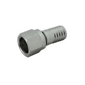 "Foxx Equipment Swivel Nut Hose Stem - Stainless Steel - 3/8"" FFL x 1/2"" barb"