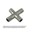 Foxx Equipment Stainless Steel Barbed Cross - 1/2 inch x 1/2 inch