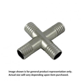 Foxx Equipment Stainless Steel Barbed Cross - 1/4 inch x 1/4 inch