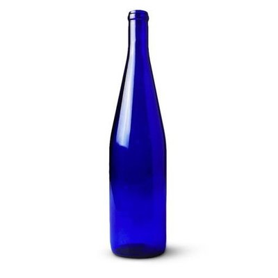 LD Carlson Cobalt Blue Hock Wine Bottle - case/12