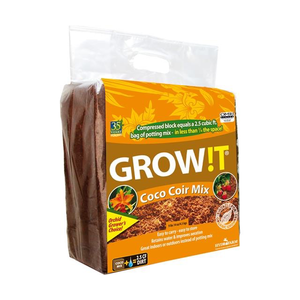 Hydrofarm GrowIt Coco Coir Block - 2.5 cu ft