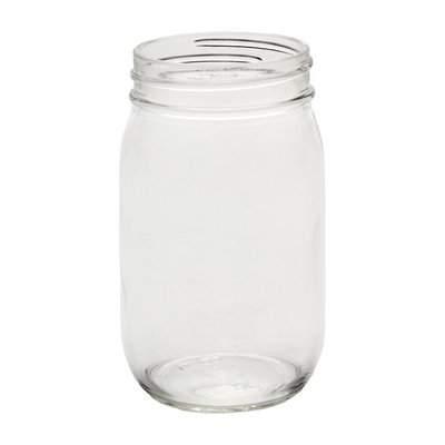 Fillmore Container Regular Mouth Canning Jars - 16 oz pint - 12/case