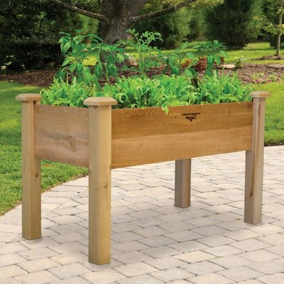 Home and Garden Gronomics Rustic Elevated Garden Bed - 24x48x32