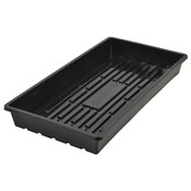 Propagation Quad Thick Black Flat Tray w/no holes - 10x20