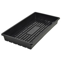 Super Sprouter Heavy Duty Flat Black Propagation Tray without Holes