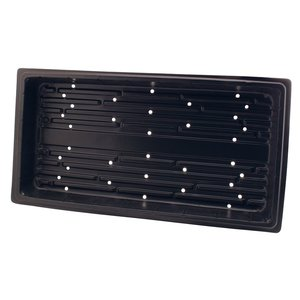 Landmark Flat Black Propagation Tray with Holes