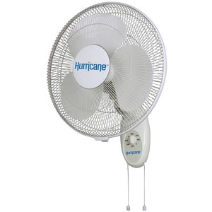 Indoor Gardening Hurricane Supreme Series Oscillating Wall Mount Fan - 16 inch