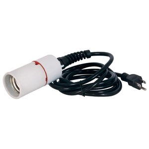 Lighting Fluorescent Socket w/ Power Cord-8'