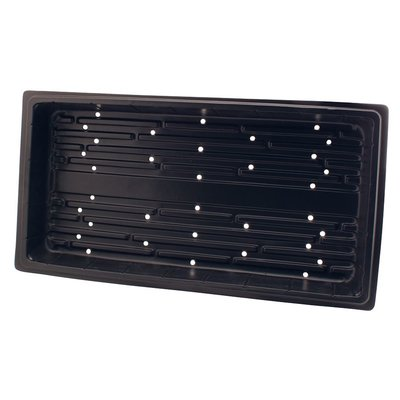 Propagation Flat Black Propogation Tray with Holes