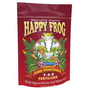 Outdoor Gardening FoxFarm Happy Frog Organic Tomato & Vegetable Fertilizer
