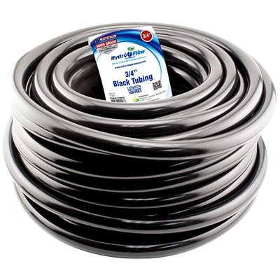 "Hydro Flow Tubing-Vinyl Black-1/2"""