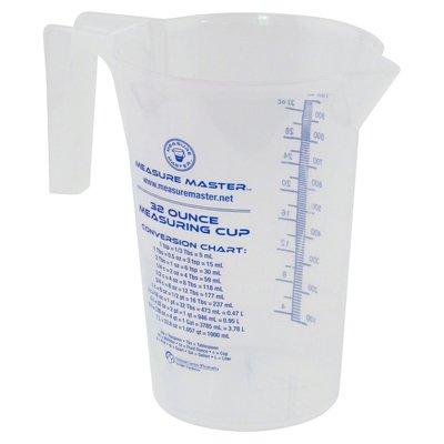 Indoor Gardening Measure Master Graduated Round Container - 32oz / 1000ml