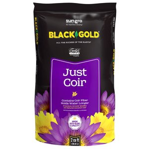 Indoor Gardening Black Gold Just Coir Organic Coco Coir - 2 cu ft