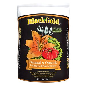 Outdoor Gardening Black Gold Natural & Organic Potting Soil - 8 qt