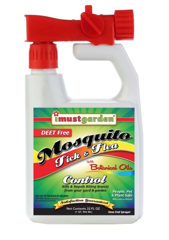 Pest and Disease I Must Garden: Mosquito Tick and Flea - Hose End Sprayer  32oz - I Must Garden: Mosquito Tick And Flea - Hose End Sprayer 32oz