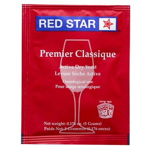 Beer and Wine Red Star Premier Classique Wine Yeast - 5 g