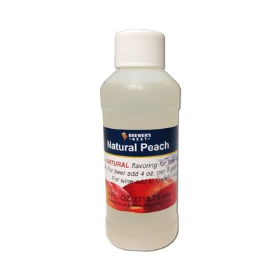 Beer and Wine Natural Peach Flavoring-4 oz