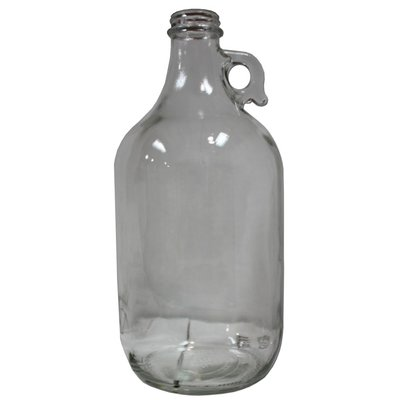 Beer and Wine Clear 1/2 Gallon Growler Jug - Case/6