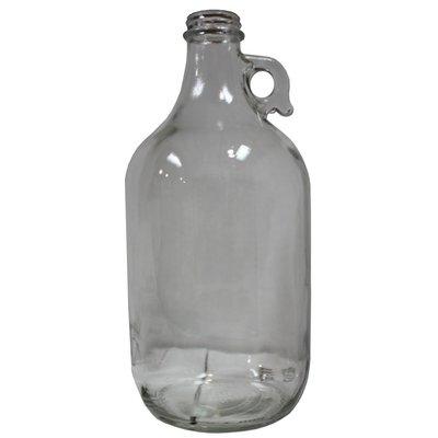 Beer and Wine Clear Growler (Jug)-1/2 Gal; Case (6)