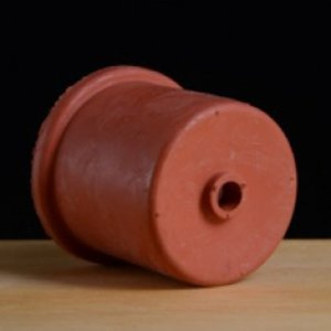 BSG Red Rubber Carboy Cap - 50 mm w/Single Hole