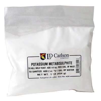 Beer and Wine Potassium Metabisulfite - 1lb