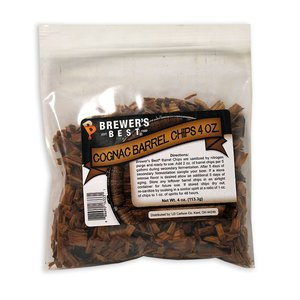 Beer and Wine Cognac Barrel Wood Chips - 4 oz