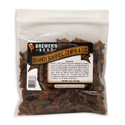Beer and Wine Brandy Barrel Wood Chips - 4 oz