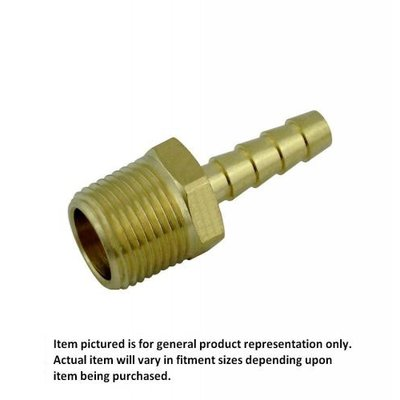 "Beer and Wine Hose Stem-3/8"" barb x 1/2"" MPT"