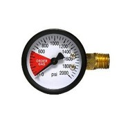 Beer and Wine Replacement Regulator Gauge -  2 Inch High Pressure - Left Hand Thread