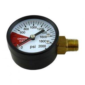 Foxx Equipment Replacement Regulator Gauge - 2 Inch High Pressure - Right Hand Thread